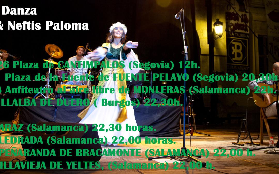 Concierto y danza. Carrión Folk y Neftis Paloma