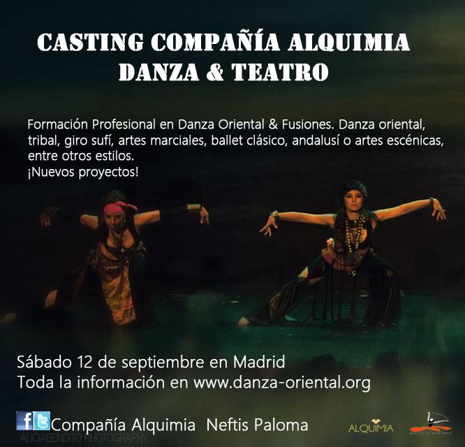 CASTING DE LA COMPAÑÍA ALQUIMIA DANZA & TEATRO