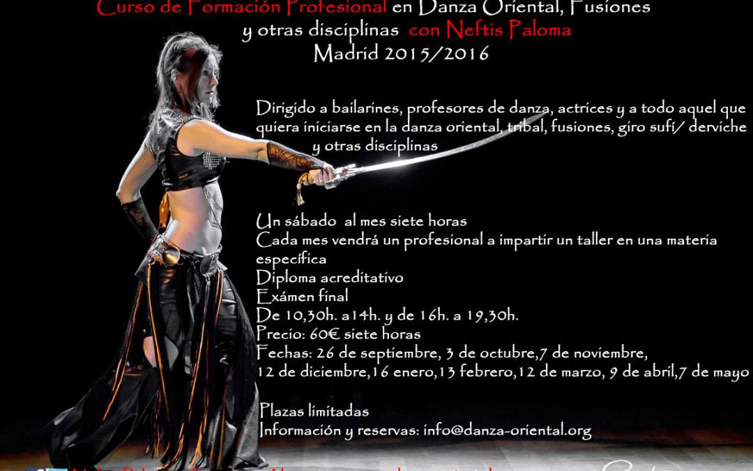 Formación Profesional Danza Oriental, fusiones y otras disciplinas. 2015-2016