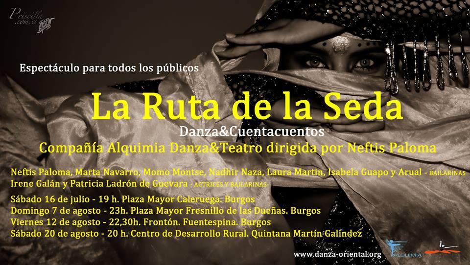Actuaciones de verano. Alquimia Danza & Teatro. Ruta de la Seda