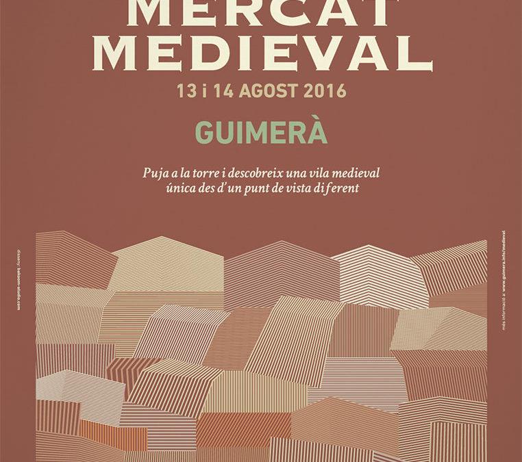 Mercado Medieval Guimera, Lleida junto con la Cremallera Teatre