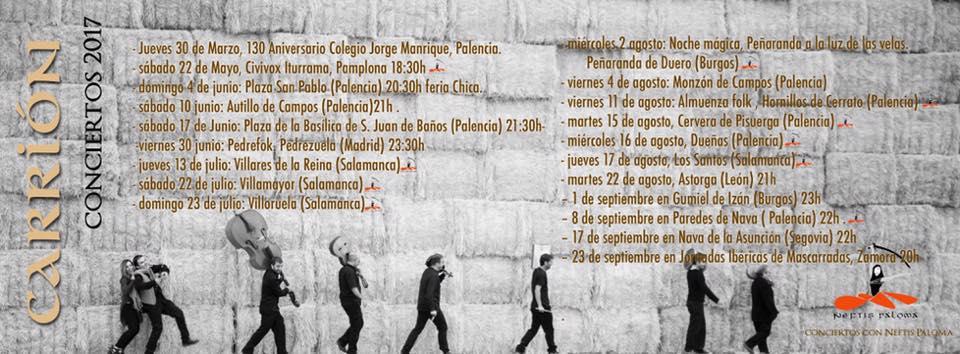 Gira Carrion Folk & Neftis Paloma. Concierto y Danza. 2017