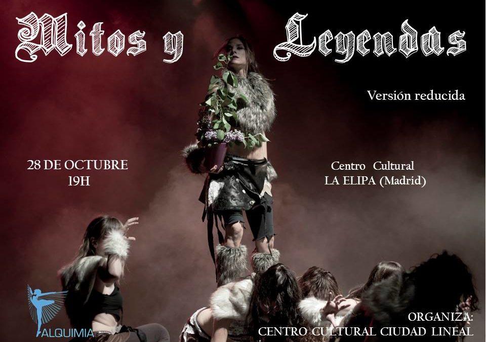 Espectáculo Mitos y Leyendas. Madre Tierra. Versión reducida. Sábado 28 octubre. Madrid.