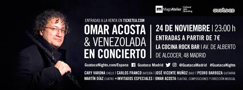 Colaboración con danza. Omar Acosta&Venezolana. Viernes 24 noviembre. Madrid