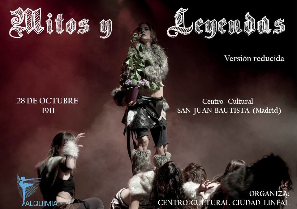 Espectáculo MITOS Y LEYENDAS. Madre Tierra. Versión reducida. Sábado 2 de diciembre. Madrid