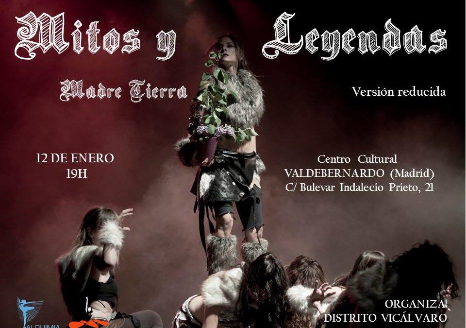 """Espectáculo de danza """"Mitos y leyendas"""". Versión reducida. Viernes 12deenero de 2017 Centro CulturalValdebernardo. Madrid"""